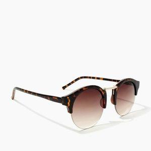 Round Clubmaster Brown Tortoiseshell Sunglasses